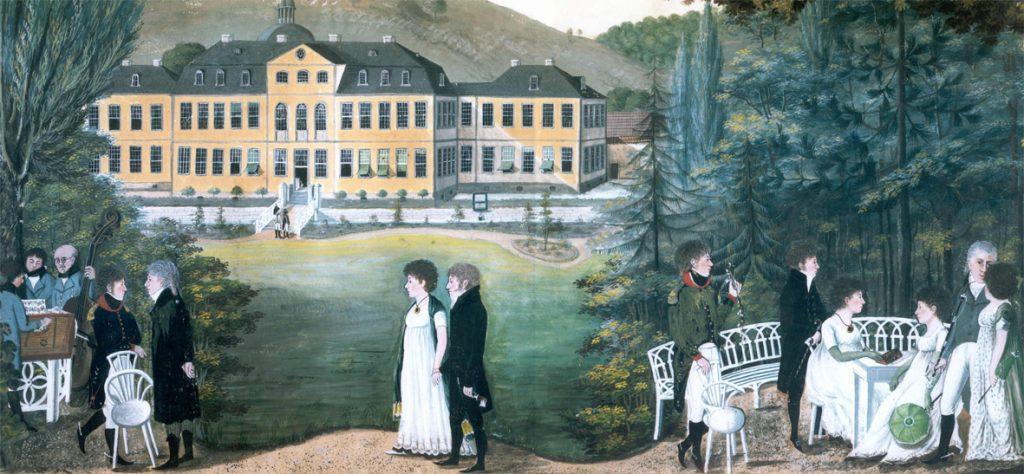 Parkgesellschaft um 1810